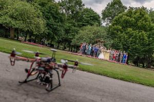 Drone wedding photography Yorkshire