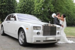 Wedding car hire - White Rolls Yoyce