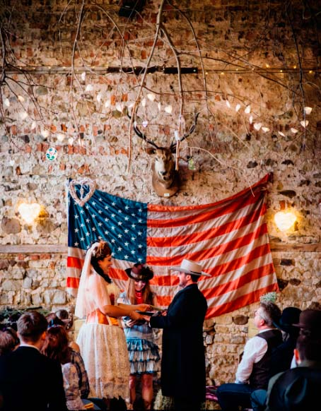 Leanne and Kristian's western themed wedding at Camp Katur