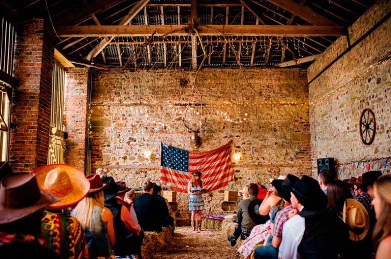 Western themed wedding at Camp Katur
