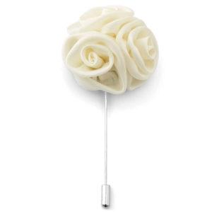 Cream lapel pin