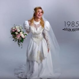 Watch 100 years of wedding gowns in just over 3 minutes