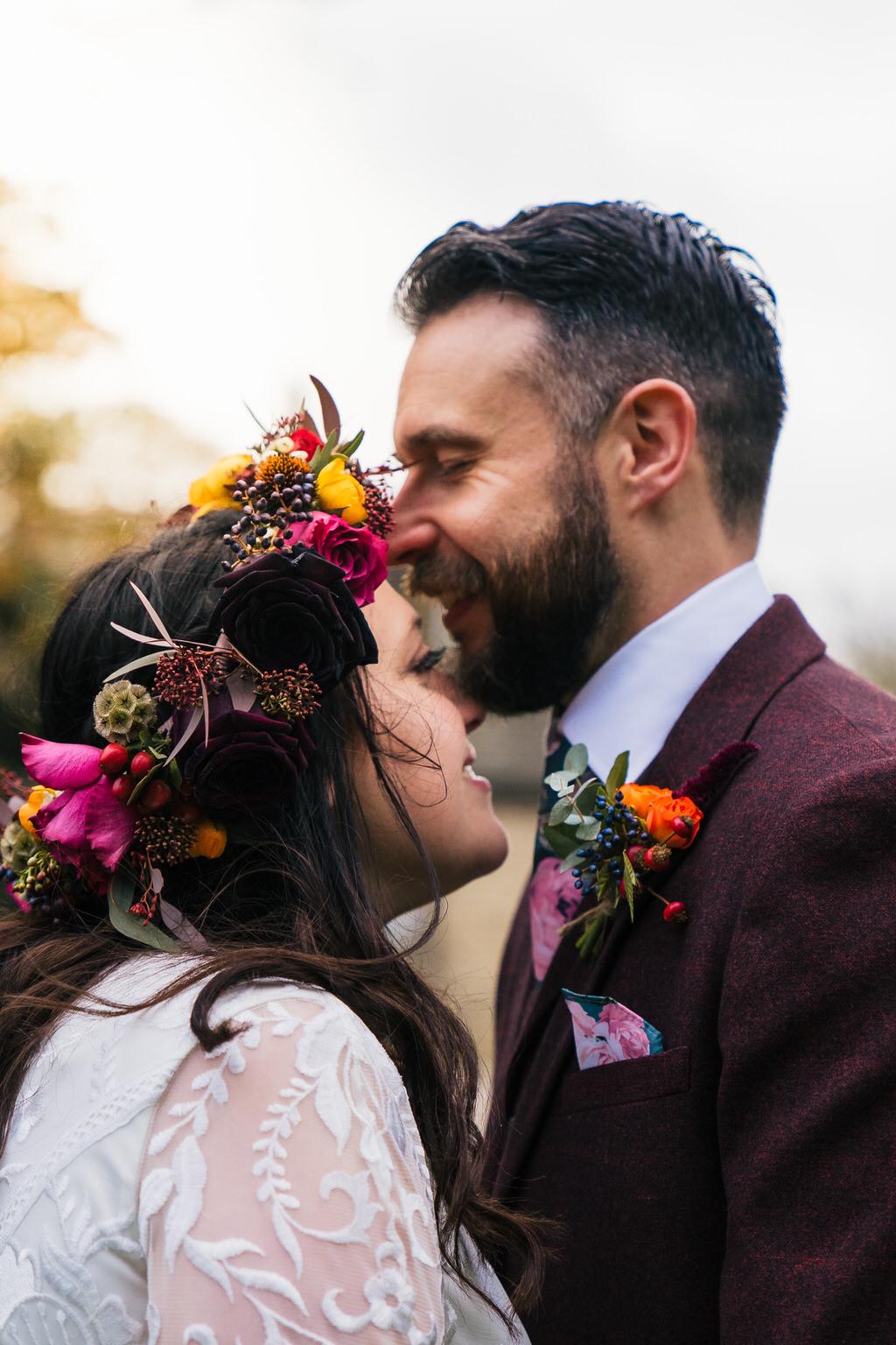 Northorpe Hall and Barn autumn wedding - Jenny and Craig
