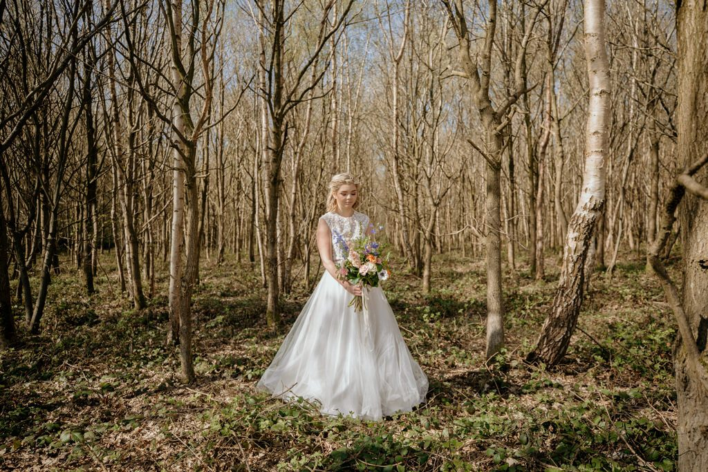 Boho styled wedding photo shoot at Escrick Park Estate