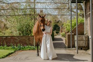 Bride and horse