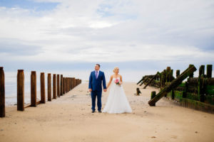 Yoarkshire coast wedding photography