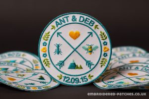 Embroidered wedding patches