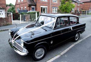 Ford Anglia wedding car